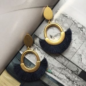 madewell | fringe statement earrings